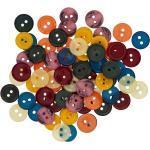 buttinette Hemd- und Blusenknöpfe, Größe: 10–12 mm Ø, Inhalt: 70 Stück
