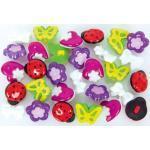 buttinette Kinderknöpfe für Mädchen, Größe: 13-15 mm, Inhalt: 30 Stück