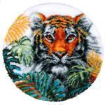 "buttinette Knüpf-Formteppich ""Tiger"", Ø 67 cm"