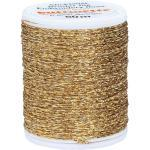 "buttinette Sticktwist ""Metallic"", gold, 50 m"