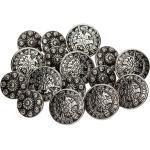 buttinette Trachtenknöpfe aus Metall, Größe: 17 – 22 mm Ø , Inhalt: 20 Stück