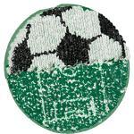 "buttinette Wende-Applikation ""Fußball"", 13 cm Ø"