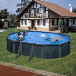 Ovale Swimmingpools & Schwimmbecken aus Polyrattan