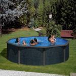 Runde Swimmingpools & Schwimmbecken aus Polyrattan