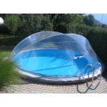 Cabrio Dome Überdachung, Pool Abdeckung für Stahlmantel Ovalbecken 530 x 320 cm