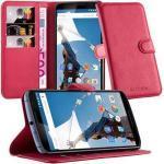 Cadorabo Handyhülle »Book mit Standfunktion« Lenovo Google NEXUS 6 / 6X, Klappbare Handy Schutzhülle - Hülle - mit Standfunktion und Kartenfach, rot