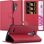 Cadorabo Handyhülle »Hülle case cover für« Motorola MOTO G4 PLUS, Magnetverschluss, Standfunktion und Kartenfach, Kunstleder, Klapphülle, rot