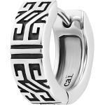CAÏ Creole »925/-Sterling Silber rhodiniert Ornamente«, weiß, weiß
