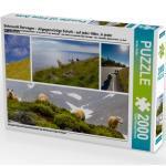 CALVENDO Puzzle Sehnsucht Norwegen - Allgegenwärtige Schafe - auf jeder Höhe, in jeder Landschaft 2000 Teile Lege-Größe 90 x 67 cm Foto-Puzzle Bild von Sattler Stefan