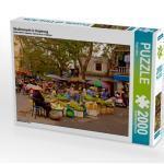 CALVENDO Puzzle Straßenmarkt in Haiphong 2000 Teile Lege-Größe 90 x 67 cm Foto-Puzzle Bild von Seifert Birgit