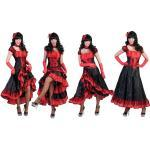Can Can Burlesque Kostüm rot-schwarz - schwarz/rot