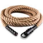 Capital Sports Monster Rope H15 Schwungtau | mit Öse | Länge: 15 m | Ø 3,8 cm | Hanf Monster Rope H15 Schwungtau | mit Öse | Länge: 15 m | Ø 3,8 cm | Hanf