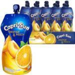 Capri-Sun Saft Orange und Peach, mit 10% Fruchtgehalt, je 0,33 Liter, 15 Stück