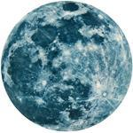 Carolui Leuchtend Mond Wandtattoo 20cm Fluoreszierende Schlafzimmer Fenster Kinderzimmer 3D Large Wandaufkleber Aufkleber(20CM)