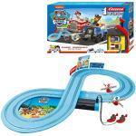 Carrera 369-3033 FIRST PAW PATROL On the Track 2,4m Rennstrecken-Set | 2 ferngesteuerte Fahrzeuge mit Chase und Marshall | mit Handregler & Streckenteilen | Spielzeug für Kinder ab 3 Jahren
