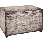 Carryhome TRUHENBANK Lederlook Mehrfarbig, Mehrfarbig, Vintage, 65x42x40 cm