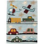 Cars Handtufted Teppich 170X240 Wolle Hellgrau/Hellblau