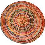 Casa Moro Orientteppich » Jute Teppich Tamani bunt rund, Teppich-Läufer im Boho-Style aus 100% Naturfaser Jute & Baumwolle handgeflochten, Für einfach schöner Wohnen«, rund