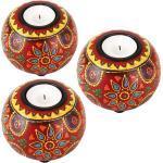Casa Moro Teelichthalter »3 orientalische handbemalte Teelichthalter Anandra im 3er Set aus Echtholz Kerzenhalter für Teelichter
