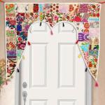 Casa Moro Türvorhang »Indischer Türvorhang Toran 110x100 cm (BxH) Orientalischer Türbehang Patchwork-Design, Vintage Fenstervorhang Boho Ethno Stil«, (1 Stück), MA6206
