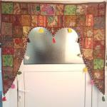 Casa Moro Türvorhang »Indischer Türvorhang Toran 110x100 cm (BxH) Orientalischer Türbehang Patchwork-Design, Vintage Fenstervorhang Boho Ethno Stil«, (1 Stück), MA6210