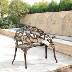 casa.pro Gartenbank, »Salo« Eisenbank Sitzbank Parkbank 100x54x80cm bronze, braun, bronze
