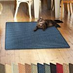 casa pura Sisalteppich Natural Line | ideal als Kratzmatte für Katzen | schadstofffrei & widerstandsfähig | Sisal Kratzteppich in vielen Farben und Größen (Blau, 60x80 cm)