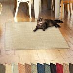casa pura Sisalteppich Natural Line   ideal als Kratzmatte für Katzen   schadstofffrei & widerstandsfähig   Sisal Kratzteppich in vielen Farben und Größen (Ivory/Creme, 100x100 cm)