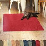 casa pura Sisalteppich Natural Line | ideal als Kratzmatte für Katzen | schadstofffrei & widerstandsfähig | Sisal Kratzteppich in vielen Farben und Größen (Rot, 100x100 cm)