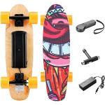 Casulo E-Skateboards 350W Elektrisches Skateboard mit Fernbedienung, Höchstgeschwindigkeit 20 km/h für Kinder, Jugendliche und Erwachsene (Orange)