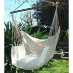 Cayo grande Natur - Hängestuhl aus Südamerika natur- weiss Baumwolle natur / beige Large Südamerika 175 x 130 cm