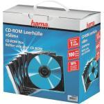 CD/DVD/Blu-ray-Leerhüllen »Slimline« - 100er-Set transparent, Hama, 12.5x14.2x0.52 cm