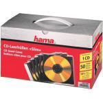 CD/DVD/Blu-ray-Leerhüllen »Slimline« - 50er-Set transparent, Hama, 12.5x14.2x0.52 cm