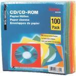 CD/DVD/Blu-ray-Papierhüllen - 100 Stück farbig blau, Hama, 12.5x12.5 cm