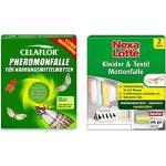 Celaflor 1396 Pheromonfalle für Nahrungsmittelmotten, 3 Stück & Nexa Lotte Kleider- & Textil-Mottenfalle, 2 Fallen