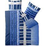 CelinaTex Harmony Bettwäsche 200 x 200 cm Mikrofaser Bettbezug Diana Vierecke blau weiß