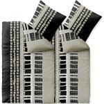 CelinaTex Style Bettwäsche 135 x 200 cm 4teilig Mikrofaser Bettbezug Daniela Streifen schwarz beige weiß