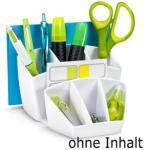 cep Tisch-Organizer 1005800021, Gloss, Recycling-Kunststoff, 6 Fächer, polarweiß