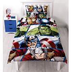 Character World DMASHEDS003UK1 Marvel Avengers Shield Bettwäsche-Set, Mikrofaser, mehrfarbig, Einzelbett