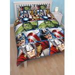Character World Wendebettwäsche-Set, Doppelbett, Disney-Motiv Marvel Avengers Shield, Mehrfarbig