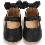 Schwarze Taufschuhe mit Klettverschluss Leicht zur Taufe für Mädchen für den Sommer
