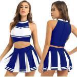 Cheerleading Kostüm Damen Cheer Leader Uniform Outfit Karneval Halloween Cosplay