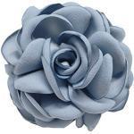 Cheerlife Haarclip Haarklipp Blumen Haarklammer Haarspange Ansteckblume Brosche Blumen Blau-Grau