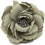 Cheerlife Haarclip Haarklipp Blumen Haarklammer Haarspange Ansteckblume Brosche Blumen (Grün)