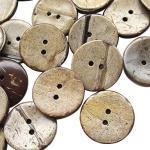 Chenkou Craft Kokosnussknöpfe, 2 Löcher, Braun, 100 Stück, 13mm braun