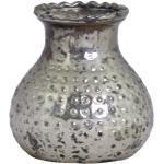 Chic Antique Teelichthalter bauernsilber, H8/D9 cm, baurnsilber