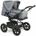 CHIC4BABY Kombi-Kinderwagen Viva jeans blue, mit herausnehmbarer Tragetasche; Kinderwagen grau Kinder Kombikinderwagen Buggies