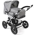 CHIC4BABY Kombi-Kinderwagen Viva, Melange Grau, 15 kg, ; Kinderwagen grau Ab Geburt Altersempfehlung