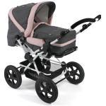 CHIC4BABY Kombi-Kinderwagen Viva, Melange Rosa, 15 kg, ; Kinderwagen grau Kinder Kombikinderwagen Buggies