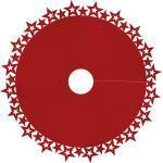 Christbaumdecke mit Sternenrand, 100 cm Ø